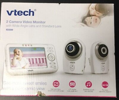 Vtech 2 Camera Video Monitor w/ Wide Angle Lens And Standard  VM351-2 New