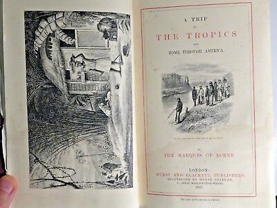 1867 A Trip to the Tropics CARIBBEAN Slavery TRAVEL Illustrated ANTIQUE BOOK
