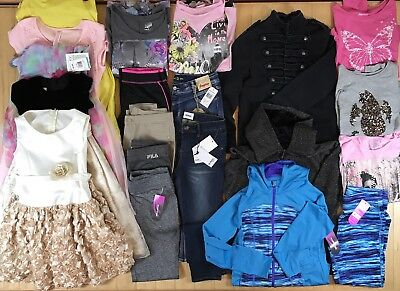 Huge Lot 20 New/Used Girls 6X-16 Formal Dresses,Justice Tops,Hudson,Fila