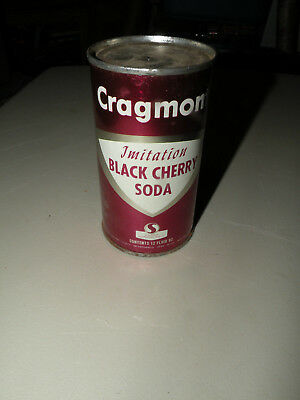 Vintage Cragmont Soda Flat Top Can Imitation Black Cherry Safeway Nice Look Nr