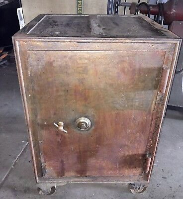 "Antique Newark Standing Floor Safe Working Alpha Combo 45.5"" MacNeale And Urban"