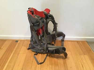 MACPAC Child Carrier/Backpack and Accessories - Grey/Red (Barely used)
