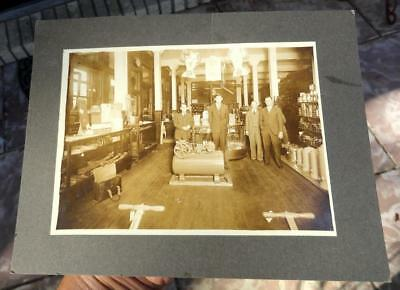 antique CABINET CARD PHOTOGRAPH DuPont Paint Store GREAT ADVERTISING late 1800's