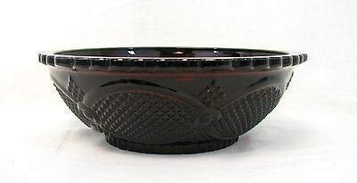 Avon 1876 Cape Cod Ruby Red Round Serving Bowl Dish