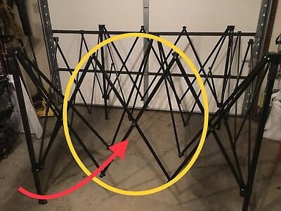 First Up Ozark Trail 10 X 10 Canopy SIDE TRUSS BAR 40.5u201d Replacement Parts & OZARK TRAIL First Up Gazebo Canopy 10 X 10 ADJUSTABLE LEG ...