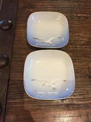 Vintage Bing and Grondahl Seagull Dish - Square with rounded corners set of 2
