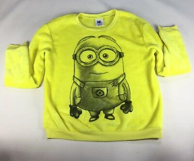 Despicable Me Minion Sweater Dave Yellow Super Soft Size S Youth Kids Fuzzy