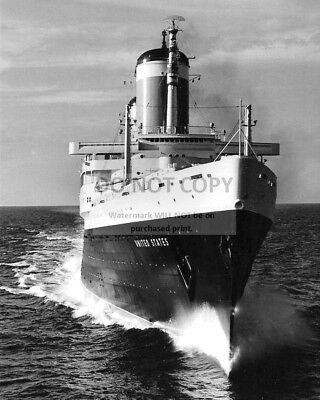 Ss United States Luxury Passenger Liner - 8X10 Photo (Az418)