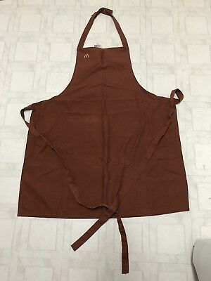 2 - Vintage McDonalds Aprons - brown and maroon 1980's - both for one money!!