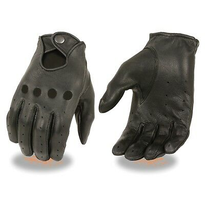 Milwaukee Leather Men's Deerskin Unlined Proffesional Driving Gloves **SH869