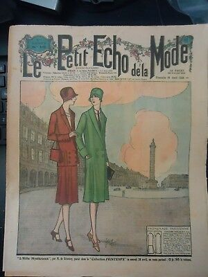 *VTG  LE PETIT ECHO de la MODE 1928 PARIS FASHION & SEWING PATTERN CATALOG