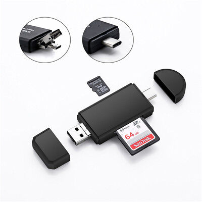 USB Type C USB OTG Micro SD TF Card Reader Adapter for PC Android Phone