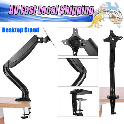 New Single Arm HD LCD Desk Mount Monitor Stand Display Screen TV Gas Spring AU