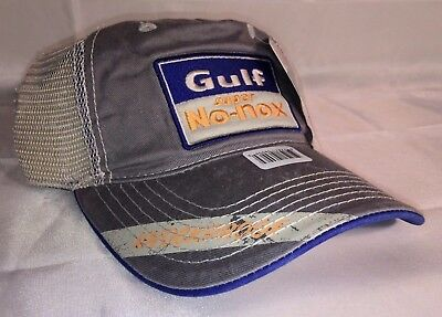 7eedc2273c0 GULF SUPER NO-NOX Vintage Headwear Adjustable Mesh Sportgear Hat Gulf Oil  Cap