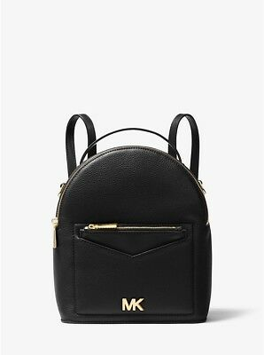 24665d280 NEW Authentic Michael Kors MK Jessa Small Leather Convertible Backpack Black