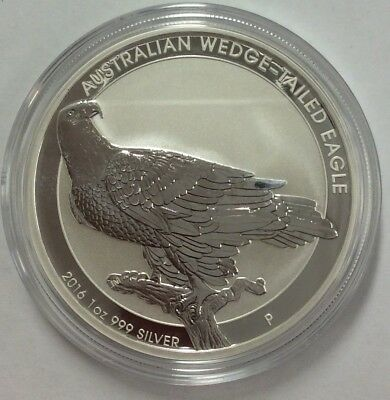 2016 $1 Australian wedge-tailed eagle coin 999 silver