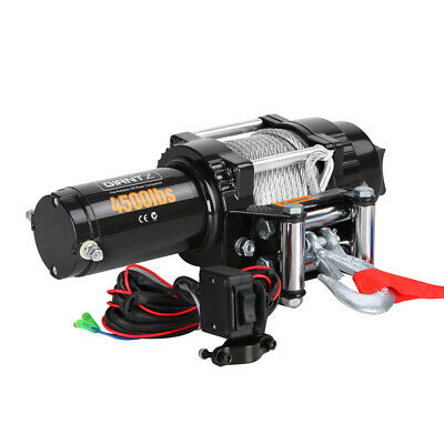 4500LBS Electric Winch ATV 4WD Steel Wire w/ Remote 12V 4X4 Car Auto Vehicle