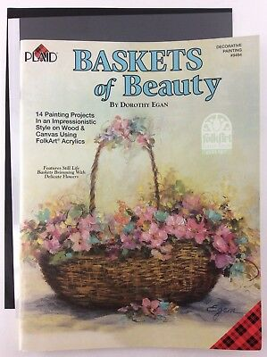 Baskets of Beauty Book by Dorothy Egan Plaid Decorative Painting FolkArt Pattern