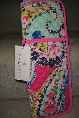 "Vera Bradley Iconic Curling & Flat Iron Cover "" Wildflower Paisley"" New Pat..$24"