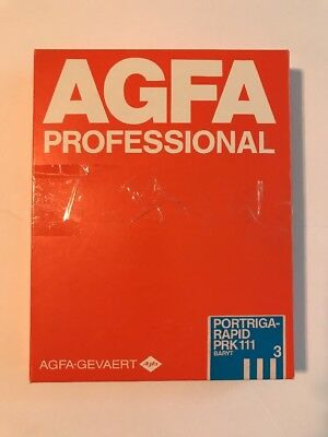 AGFA Vintage Photographic Paper Portriga Rapid PRK III 8x10 80 Sheets
