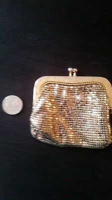 Vintage Gold GLOMESH Purse, in good condition with tags.
