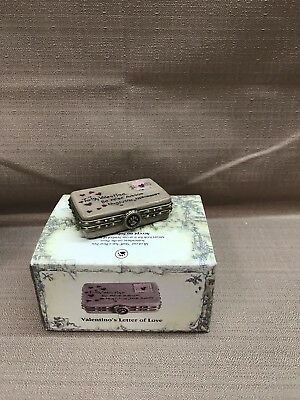 NIB Boyds Treasure Box Valentino's Letter Of Love 1E #82094