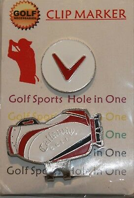 PAIR of Callaway Golf HAT CLIP MAGNETIC MARKER suit Caps or Visors Free Delivery