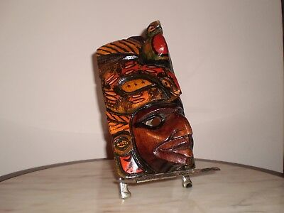 Colorful Latin Hand Carved Mask