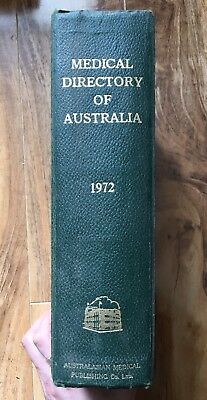 Medical Directory Of Australia 1972 Antique Medical Book