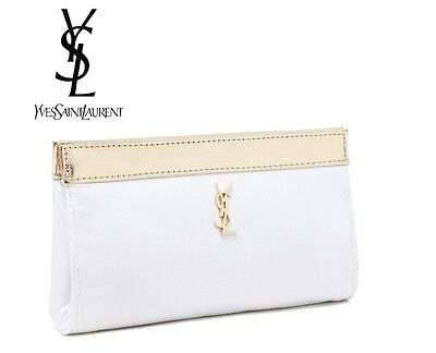 YSL Parfums White Makeup Cosmetics Bag, Brand NEW! 100% Genuine!!