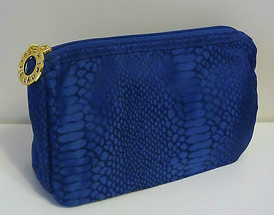 ESTEE LAUDER Blue Snake Skin Pattern Makeup Cosmetics Bag, Brand NEW!!