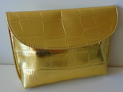 ESTEE LAUDER Gold Makeup Cosmetics Bag / Purse , Brand NEW!!