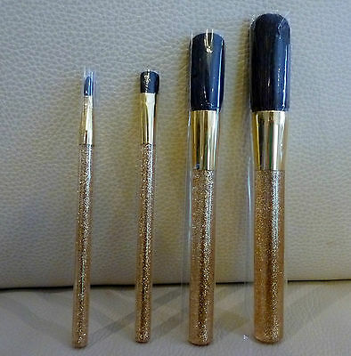 ESTEE LAUDER 4 piece Golden Makeup Brush Set, Brand NEW Sealed! 100% Genuine!!