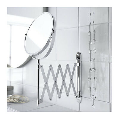 IKEA Extending Mirror 2 sides Stainless Steel Makeup Shaving Bathroom Mirror