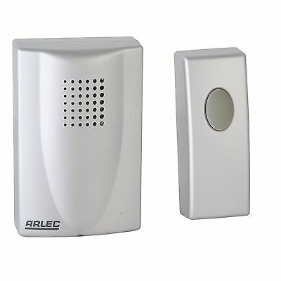 Arlec Wireless Door Chime Battery Operated Remote control Multiple channel WHITE