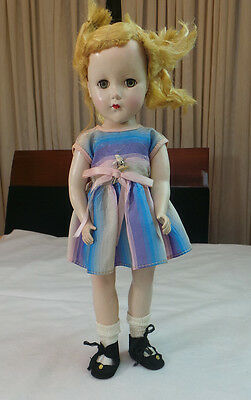 ANTIQUE R & B DOLL with MOHAIR WIG