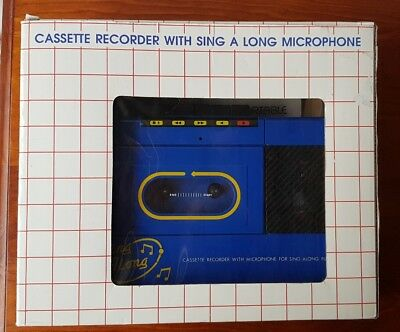 Sing Along Portable Cassette Recorder with Sing Along Microphone