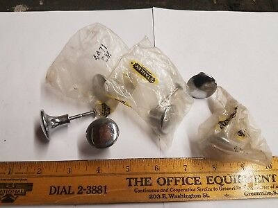 Lot of 6 Vintage Stanley 4471/CM Chrome Cabinet Drawer Pull Knobs