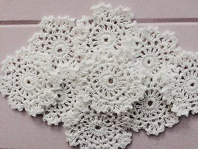 10 X Bulk New White Crochet Lace Doilies 6-6.5 Cm