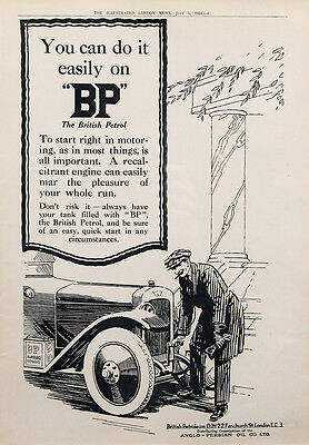 1924 BP British Petroleum Anglo-Persian Oil Vintage UK Magazine Ad
