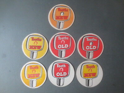 7 different TOOTH,S BREWERY ,Sydney early 1970,s  Issue  Beer  COASTERS,