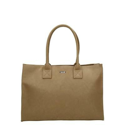 TAUPE Highly Convenient TOTE Ample Space Detachable Shoulder Strap Nylon Lining