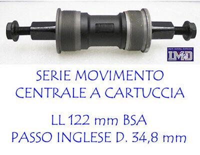Perno movimento centrale per bici bicicletta CARTUCCIA BSA 34,8 LL 122 MM Bike