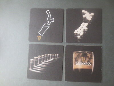 complete set of 4 GUINNESS ,New Zealand,  beer  COASTERS