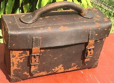Vintage Leather Tool Case