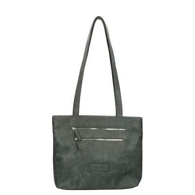 Elegant Durable GREY HOPPER Nylon Lining Two Front Zip Highly Convenient Handbag