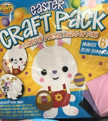 easter craft pack makes 6 BUNNIES