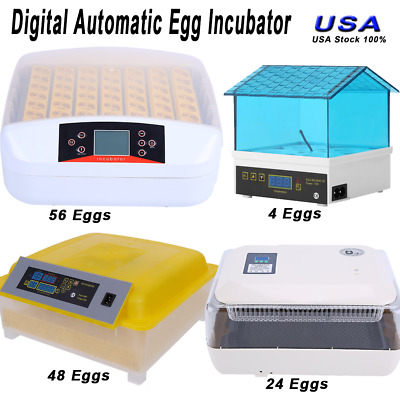 Digital Egg Incubator Clear Hatcher w/ Automatic Turner Poultry Chicken Bird US