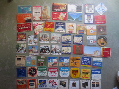 60 different TOBACCO brand named  Australian Issued ,COASTERS ,
