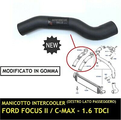 Manicotto MODIFICATO Turbo Destro Intercooler Ford Focus II C-Max 1.6 TDCi